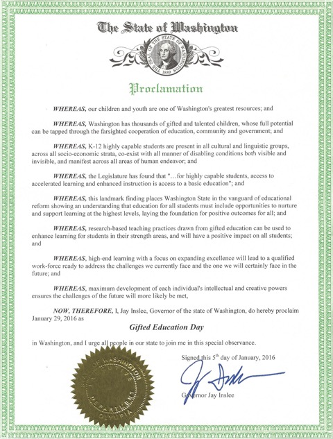proclamation 2016